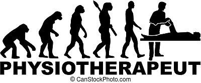 evolution., deutsch, title., arbeit, therapeut, physisch