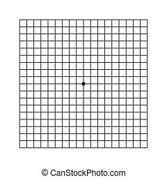 examination., control., oculist, tabelle, vision, netzhaut, sehen prüfung, amsler, gitter, printable, vektor, punkt, grid., centre.