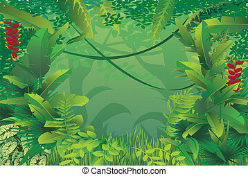Exotische tropische Wälder.