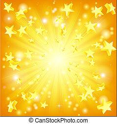 Explodierender Star-Hintergrund