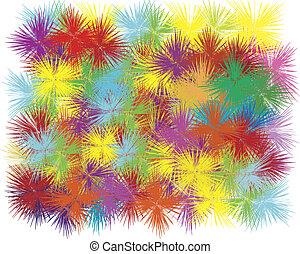 explosion, färben hintergrund, weißes