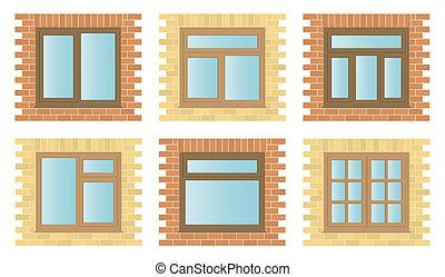 Externe Holzfenster aufstellen