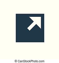 Externer Link Icon mit Pfeil und Box.