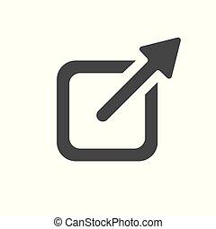 Externes Link Icon mit Pfeil & Box zum Verlassen der Seite.