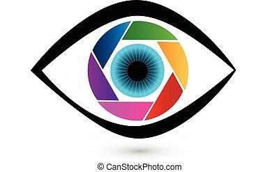 Eye Shutter Icon Vektorlogo