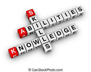 Fähigkeiten, Wissen, Fähigkeiten