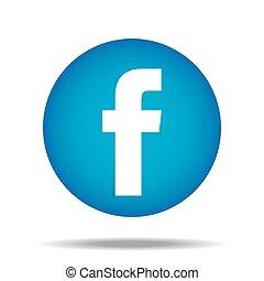 F Facebook Button Daumen hoch Vektor.