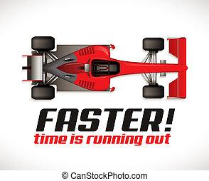 F1 - Formel ein Wettbewerb - Rennwagen als Laufzeitkonzept.