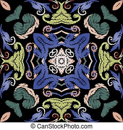 fabric., damast, pattern., wallpaper., leaves., barock, carpet., seamless, beschaffenheit, tapisserie, vektor, grunge, bestickt, blumen-, endlos, stickerei, textured, hintergrund., bunte, ornaments., blumen