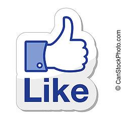 Facebook wie ein Knopf