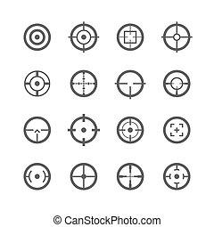 fadenkreuze, heiligenbilder