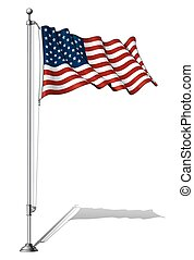 Fahnenmast USA