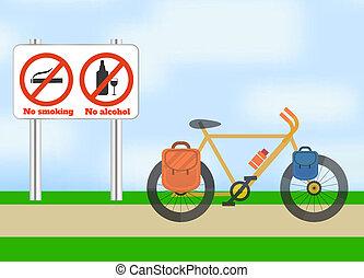 Fahrrad unterwegs. Fahrradtourismus.