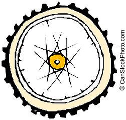 Fahrradrad - Vektor