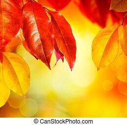 Fallen. Herbstblätter