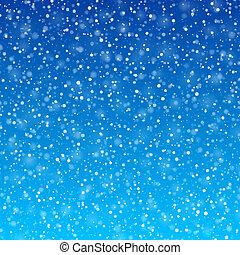 Fallende Schnee.