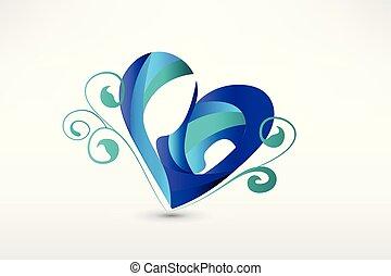 Familie in Herzform stilisierte Zeichnung Logo.