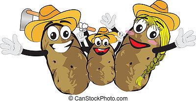 familie, kartoffel