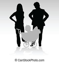 Familie mit Babyvektoren