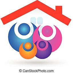 Familie mit neuem Logo