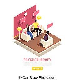 familie, psychotherapie, isometrisch