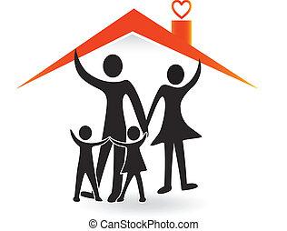 Familie und Haus der Liebe Logo.