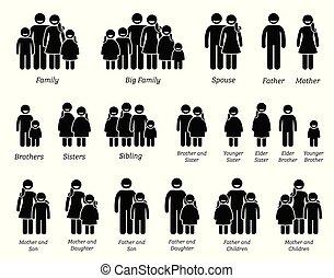 Familie und Menschen Ikonen.