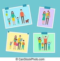 Familien glückliche Menschen Bilder vektor Illustration