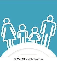 Familien-Icon mit Platz für Text.