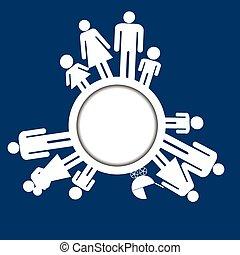 Familien Icons Piktogramme.