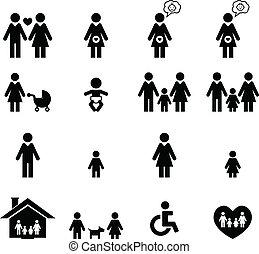 Familien-Ikone.