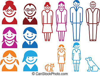 Familien-Ikonen-Set