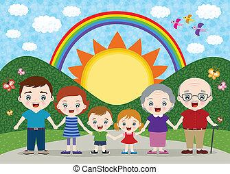 Familien-Illustration