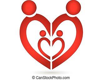 Familien-Symbol-Herz-Logo.