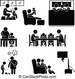 Familienaktivitätshaus-Symbol