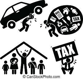 Familienangehörige haben finanzielle Probleme