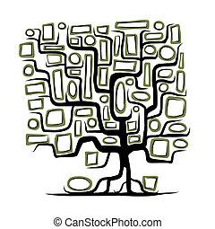 Familienbaum-Konzept mit leeren Rahmen