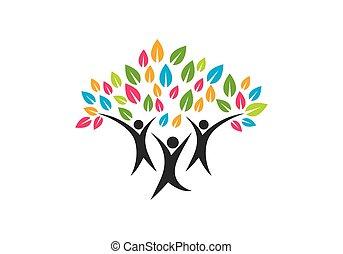 Familienbaum-Symbol-Logo-Design.