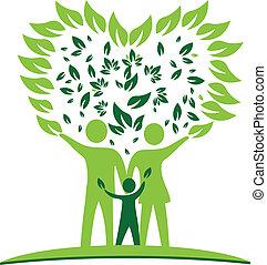 Familienbaumherzblätter Logo.