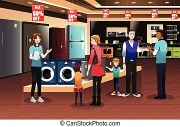 Familieneinkauf für Geräte.