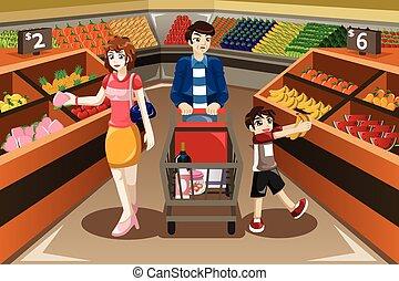 Familieneinkaufen.