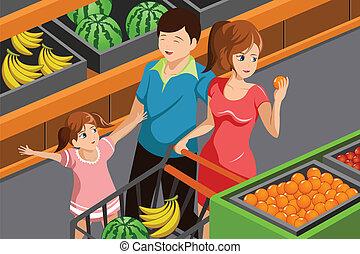 Familieneinkaufsgeschäft.