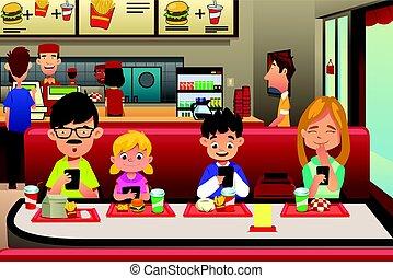 Familienessen im Restaurant.