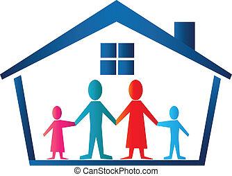 Familienhaus-Logovektor