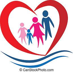 Familienherz-Logovektor