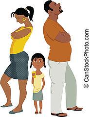 Familienkonflikte betreffen Kinder.