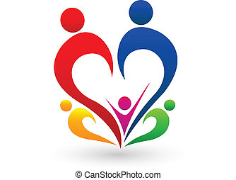 Familienkonzept-Logo-Vektor.