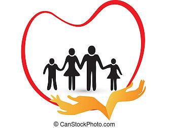 Familienliebe-Logo-Vektor.