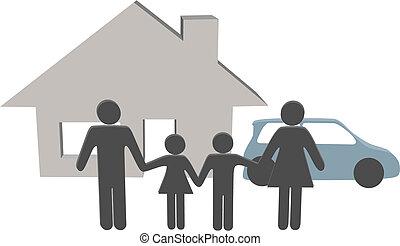 Familienmitglieder beherbergen Autoleute zu Hause
