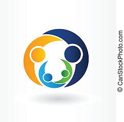 Familienpflege Logo Vektorgrafik.